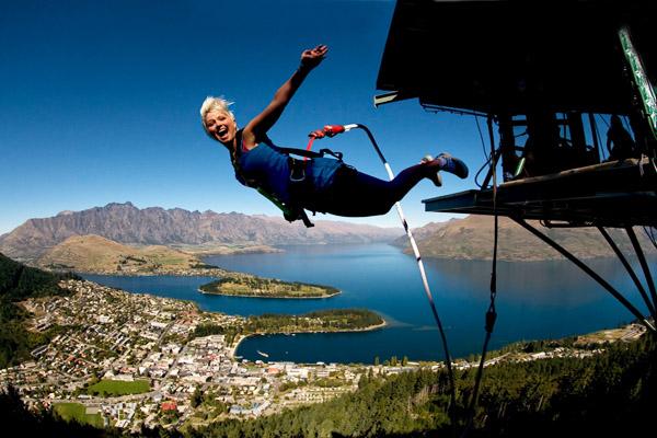 Bungee jumpen Queenstown Nieuw Zeeland