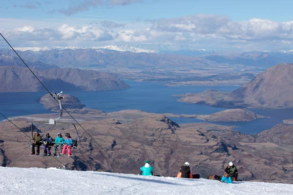 Skiing Treble Cone New Zealand