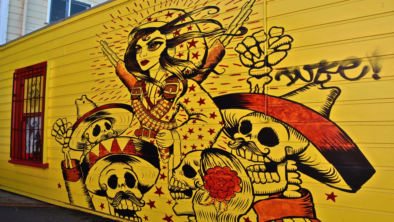 Mexicaanse streetart Wellington