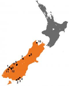 Zuidereiland watervallen kaart
